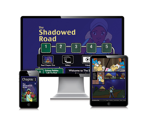 The Shadowed Road: Interactive Graphic Novel + Paperback Book