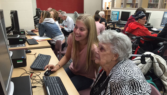 Tech-Savy Teens Teach Seniors to Surf the Web
