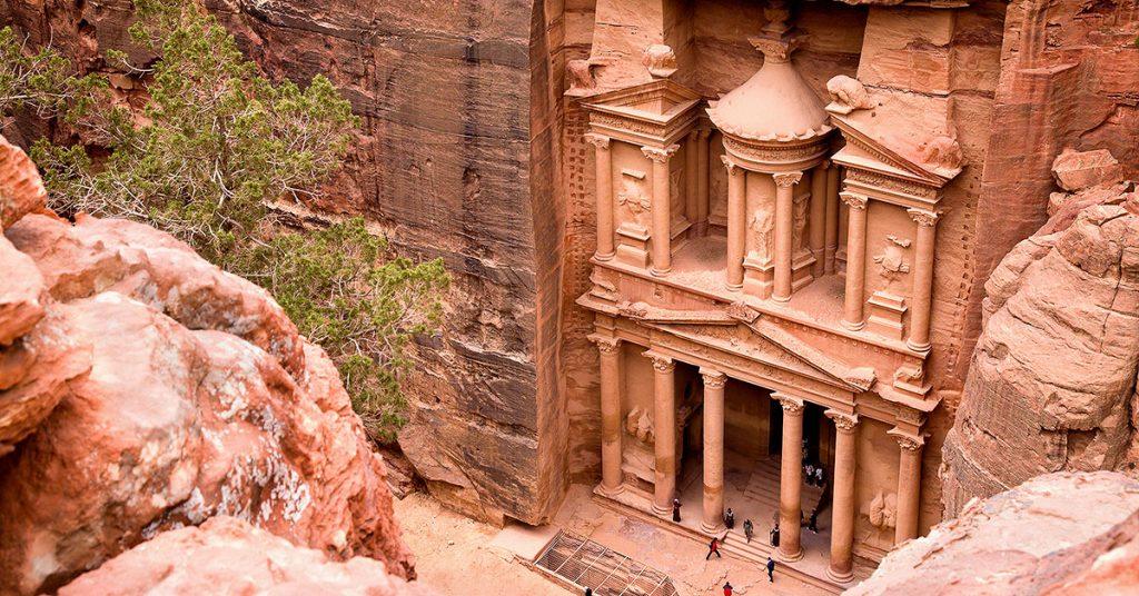 Al-Khazneh temple of Petra.